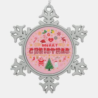 Weihnachten ornament-01 schneeflocken Zinn-Ornament