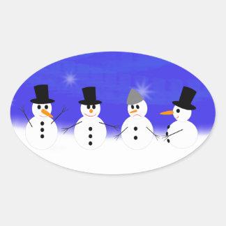 Weihnachten Ovaler Aufkleber