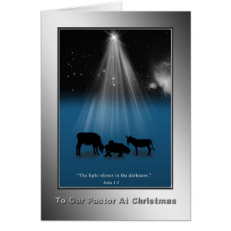 Weihnachten, Pastor, religiös, Geburt Christi, Karte