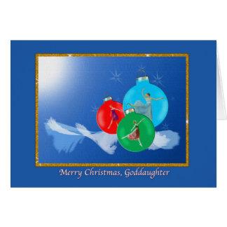 Weihnachten, Patenttochter, Ballerinen Karte