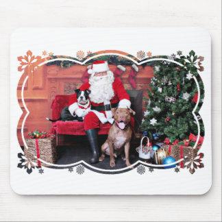 Weihnachten - Pitbulls - Mia u. Lucian Mousepad