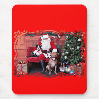 Weihnachten - Pitbulls - Mia u. Lucian Mousepads