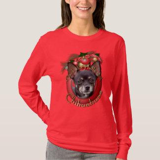 Weihnachten - Plattform die Hallen - Chihuahua - T-Shirt