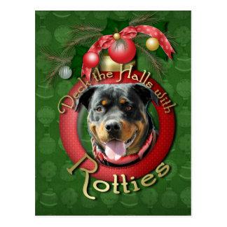 Weihnachten - Plattform die Hallen - Rotties - Postkarte