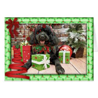 Weihnachten - portugiesischer Wasser-Hund - Lucy Karte