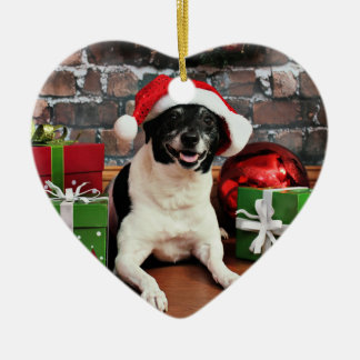 Weihnachten - Ratte Terrier - Sparky Keramik Ornament