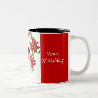 Weihnachten/rote Polterabend-Tasse Dezembers Zweifarbige Tasse