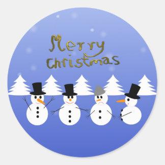 Weihnachten Runder Aufkleber