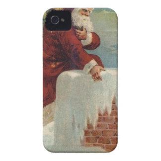 Weihnachten - Sankt, die unten der Kamin kommt iPhone 4 Hüllen