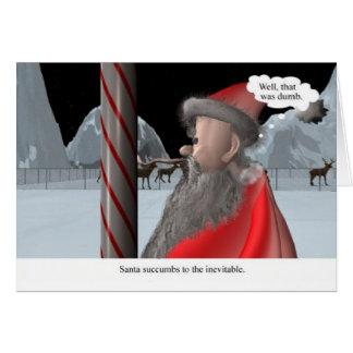 Weihnachten: Sankt leckt Pfosten Grußkarte