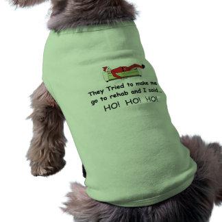Weihnachten Sankt lustig Ärmelfreies Hunde-Shirt