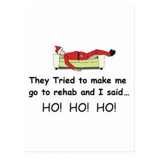 Weihnachten Sankt lustig Postkarte