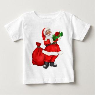 Weihnachten Sankt mit Geschenken Baby T-shirt