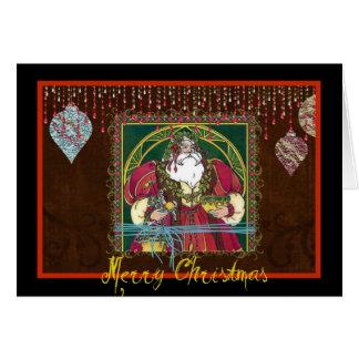 Weihnachten Sankt Nikolaus verziert Karte