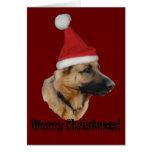 """Weihnachten """"Schäferhund """" Grußkarte"""
