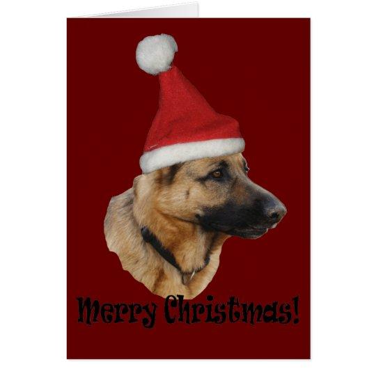 """Weihnachten """"Schäferhund """" Karte"""