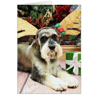 Weihnachten - Schnauzer - Apache Mitteilungskarte