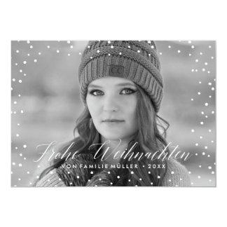 Weihnachten Schnee | Weihnachtskarte Karte