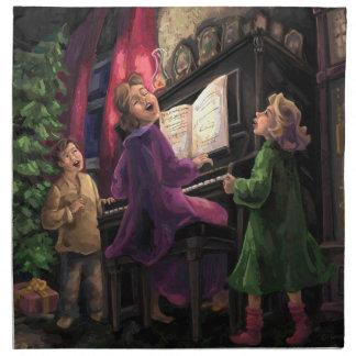 Weihnachten singen entlang stoffserviette