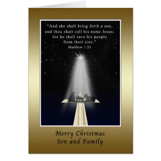 Weihnachten, Sohn und Familie, religiös Karte