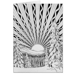 Weihnachten-Sonnenaufgang-Gruß-Karte Grußkarte