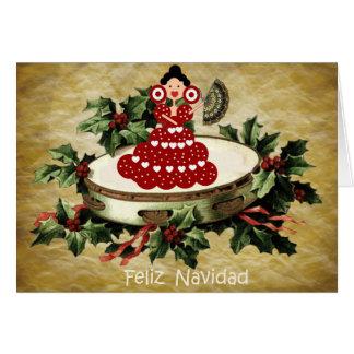 Weihnachten spanischer Stil, Palette und Karte