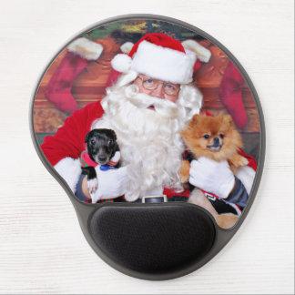 Weihnachten - Spitz u x-Zucht - Sparky u Evan Gel Mousepad