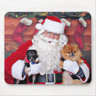 Weihnachten - Spitz u. x-Zucht - Sparky u. Evan Mousepad