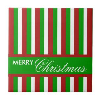 Weihnachten Stripes grüne Fliese