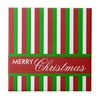 Weihnachten Stripes rote Fliese