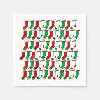 Weihnachten trifft papierservietten