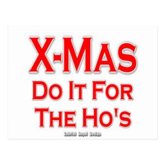 Weihnachten tun es für Hos Postkarte
