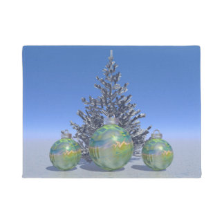 Weihnachten und Bälle und Baum Türmatte
