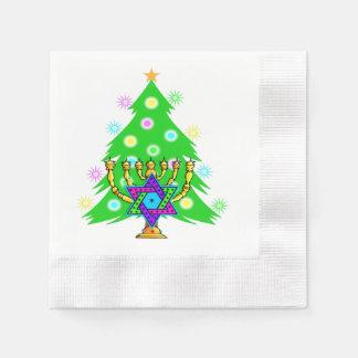 Weihnachten und Chanukka Papierserviette