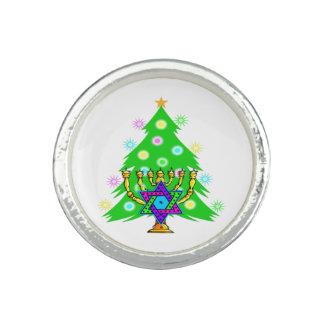 Weihnachten und Chanukka Ring
