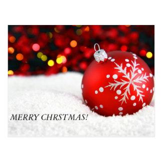 Weihnachten verziert 3, FRÖHLICHES CHRSTMAS! Postkarte