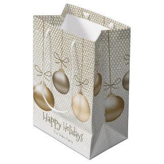 Weihnachten verziert Gold ID251 Mittlere Geschenktüte