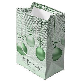 Weihnachten verziert grünes ID251 Mittlere Geschenktüte