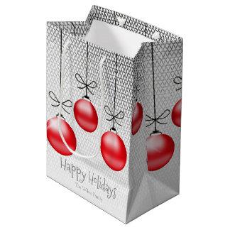 Weihnachten verziert rotes ID251 Mittlere Geschenktüte