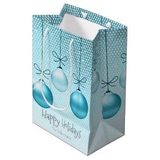 Weihnachten verziert Türkis ID251 Mittlere Geschenktüte