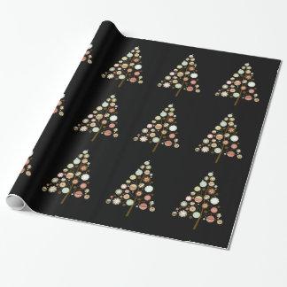 Weihnachten verziert Weihnachtsbäume Geschenkpapier