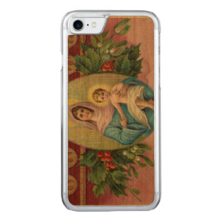 Weihnachten Vintage Mary Carved iPhone 8/7 Hülle