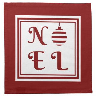 WEIHNACHTEN Weihnachtsfeiertags-Rot und Weiß Serviette