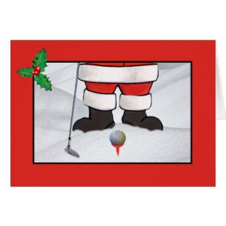 Weihnachten, Weihnachtsmann, der Golf im Schnee Karte