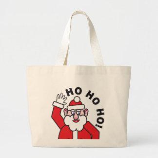 Weihnachten Weihnachtsmann HO HO HO! Jumbo Stoffbeutel