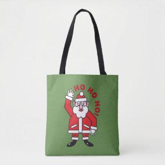 Weihnachten Weihnachtsmann HO HO HO! Tasche