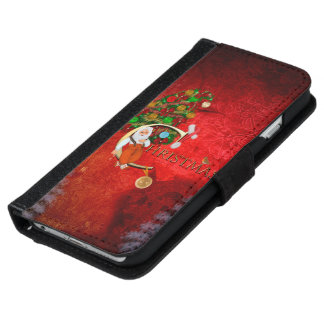 Weihnachten, Weihnachtsmann iPhone 6/6s Geldbeutel Hülle