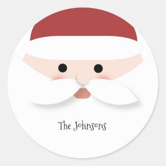 Weihnachten Weihnachtsmann Runder Aufkleber