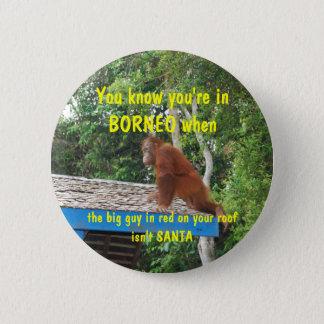 Weihnachten Weihnachtsmanns Borneo Runder Button 5,1 Cm