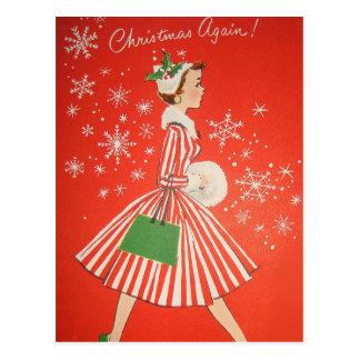 Weihnachten wieder! postkarte